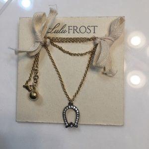 Lulu Frost Horseshoe Necklace, NWOT